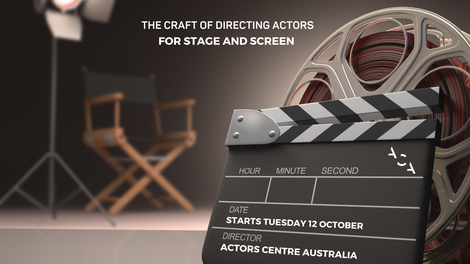 Director Chair Stock Image Online Course